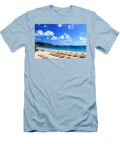 St. Maarten Calm Sea Men's T-Shirt (Athletic Fit)