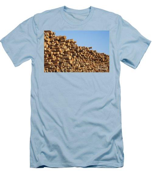 Stacks Of Logs Men's T-Shirt (Athletic Fit)