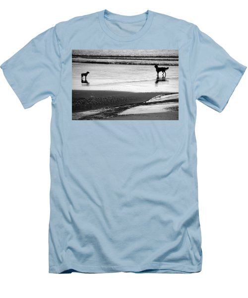 Standoff At The Beach Men's T-Shirt (Athletic Fit)