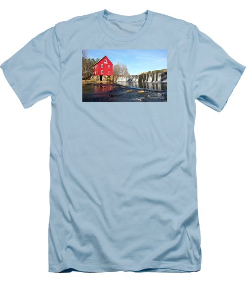 Men's T-Shirt (Slim Fit) featuring the photograph Starr's Mill In Senioa Georgia 3 by Donna Brown