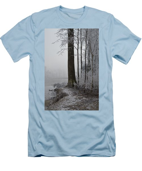Steep And Frost Men's T-Shirt (Slim Fit) by Felicia Tica