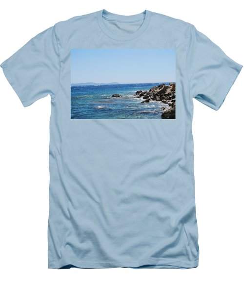 Men's T-Shirt (Slim Fit) featuring the photograph Stiff Breeze by George Katechis