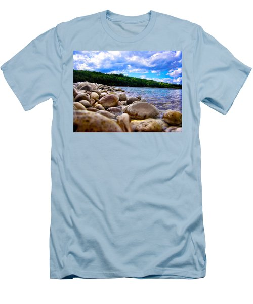 Men's T-Shirt (Slim Fit) featuring the photograph Stone Beach by Zafer Gurel