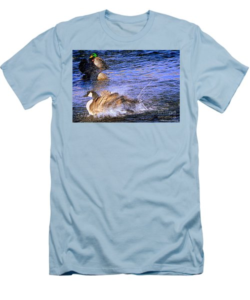Stop Splashing Men's T-Shirt (Athletic Fit)