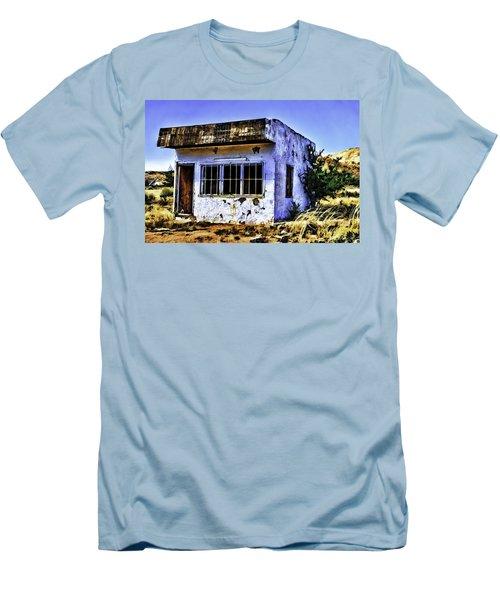 Men's T-Shirt (Slim Fit) featuring the painting Store by Muhie Kanawati
