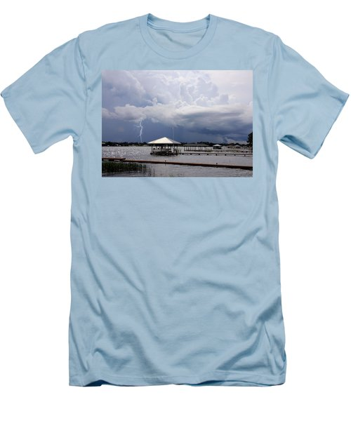 Storm Over Clay Lake Men's T-Shirt (Athletic Fit)