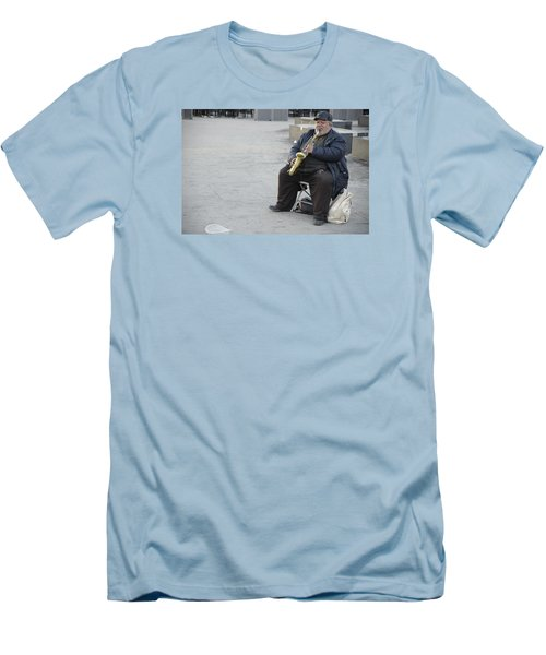 Street Musician - The Gypsy Saxophonist 3 Men's T-Shirt (Athletic Fit)