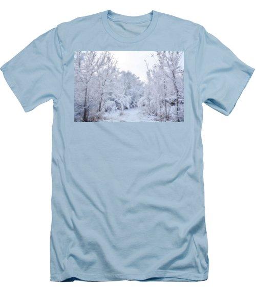 Stroll Through A Winter Wonderland Men's T-Shirt (Slim Fit) by Diane Alexander