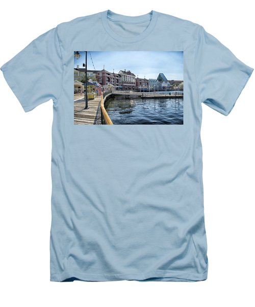 Strolling On The Boardwalk At Disney World Men's T-Shirt (Slim Fit) by Thomas Woolworth
