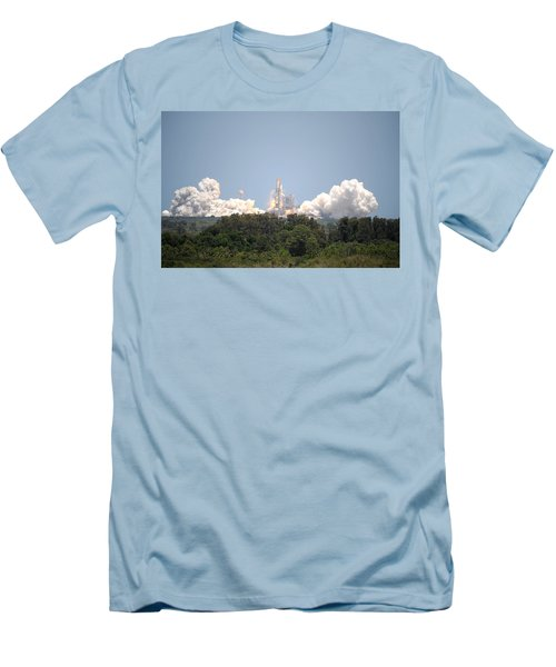 Men's T-Shirt (Slim Fit) featuring the photograph Sts-132, Space Shuttle Atlantis Launch by Science Source