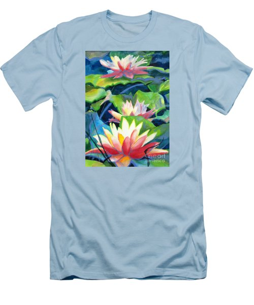 Styalized Lily Pads 3 Men's T-Shirt (Slim Fit) by Kathy Braud