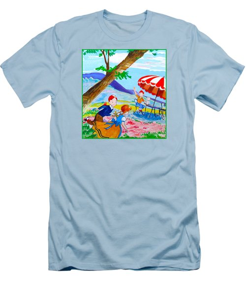 Men's T-Shirt (Slim Fit) featuring the painting Sugarland Vintage by Beth Saffer