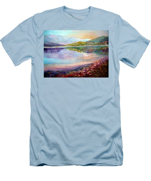 Men's T-Shirt (Slim Fit) featuring the painting Summer Afternoon by Sher Nasser