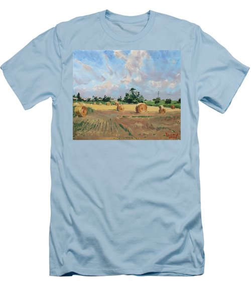 Summer Fields In Georgetown On Men's T-Shirt (Athletic Fit)