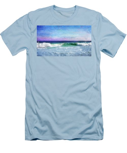 Summer Salt Men's T-Shirt (Slim Fit) by Laura Fasulo