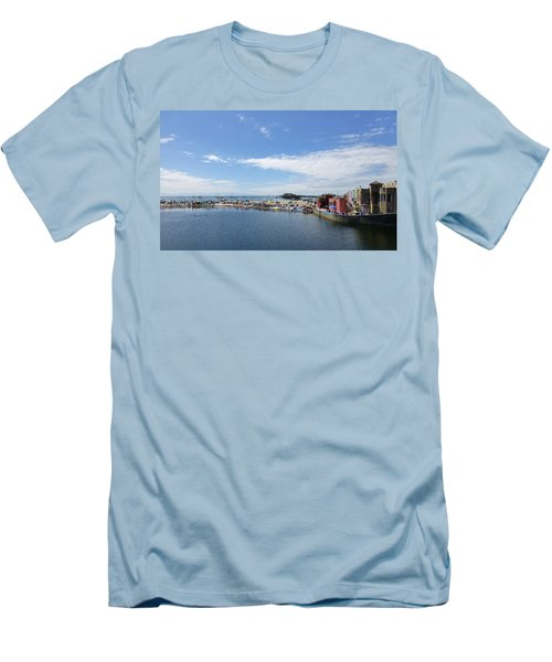 Summers End Capitola Beach Men's T-Shirt (Slim Fit) by Amelia Racca