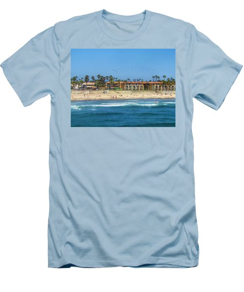 Summertime Men's T-Shirt (Slim Fit) by Tammy Espino
