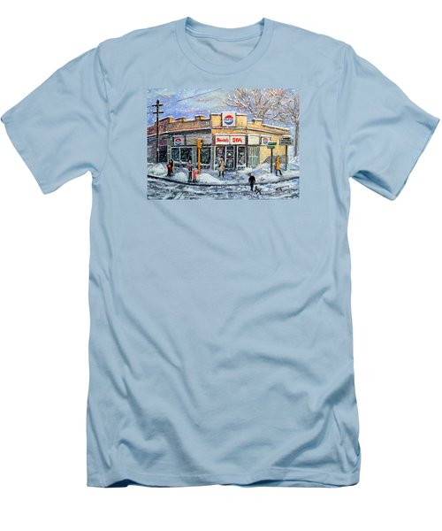 Sunday Morning At Renie's Spa Men's T-Shirt (Slim Fit) by Rita Brown