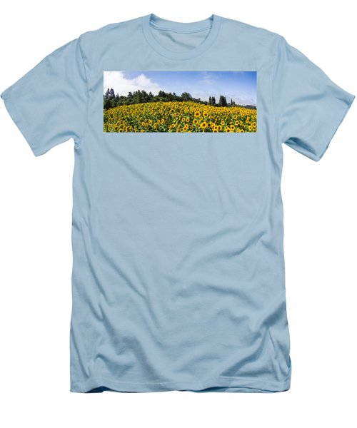 Sunflower Horizon Number 2 Men's T-Shirt (Athletic Fit)