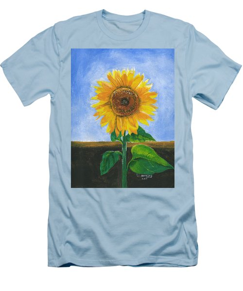 Men's T-Shirt (Athletic Fit) featuring the painting Sunflower Series Two by Thomas J Herring