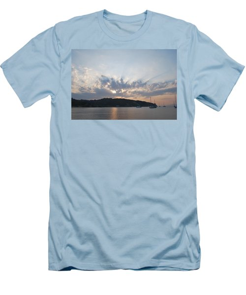Men's T-Shirt (Slim Fit) featuring the photograph Sunrise by George Katechis
