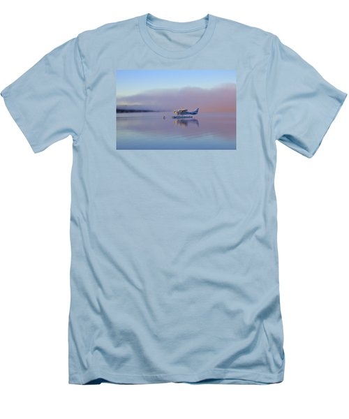 Sunrise On Lake Te Anu Men's T-Shirt (Slim Fit) by Venetia Featherstone-Witty
