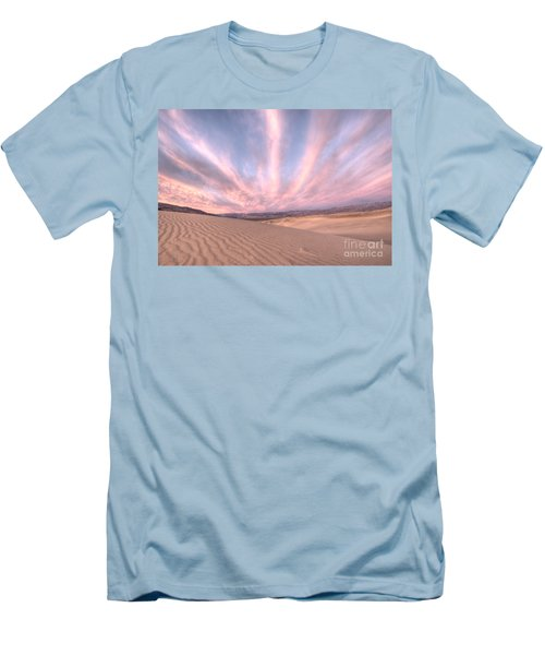 Sunrise Over Sand Dunes Men's T-Shirt (Slim Fit) by Juli Scalzi