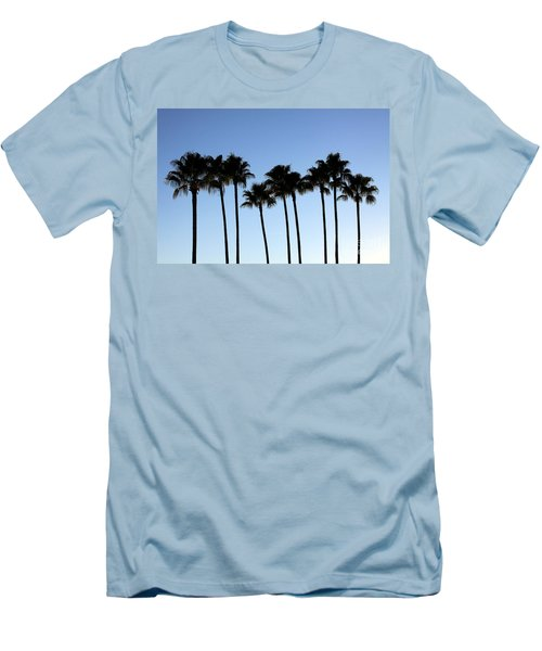 Men's T-Shirt (Slim Fit) featuring the photograph Sunset Palms by Chris Thomas