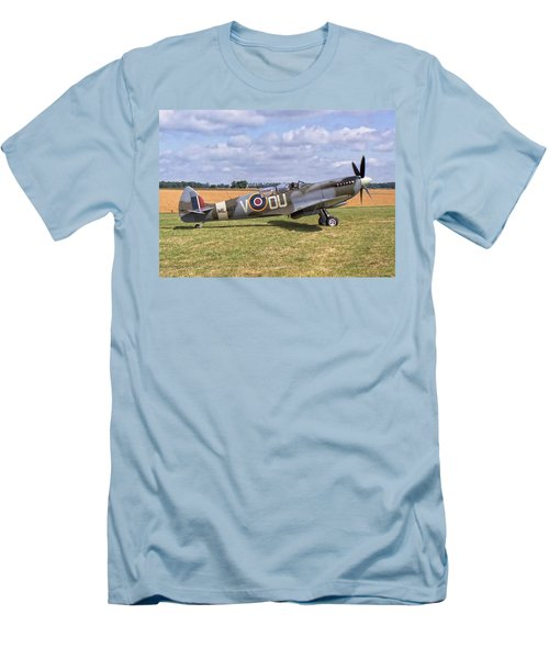 Men's T-Shirt (Slim Fit) featuring the photograph Supermarine Spitfire T9 by Paul Gulliver