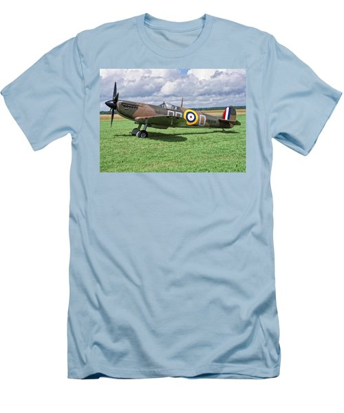 Men's T-Shirt (Slim Fit) featuring the photograph Supermarine Spitifire 1a by Paul Gulliver