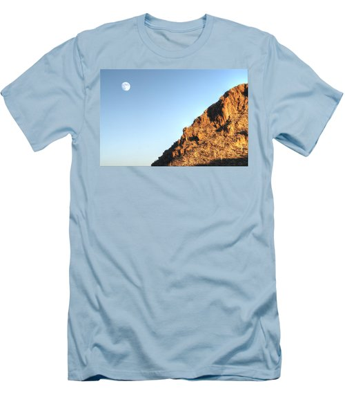 Men's T-Shirt (Slim Fit) featuring the photograph Superstition Mountain by Lynn Geoffroy