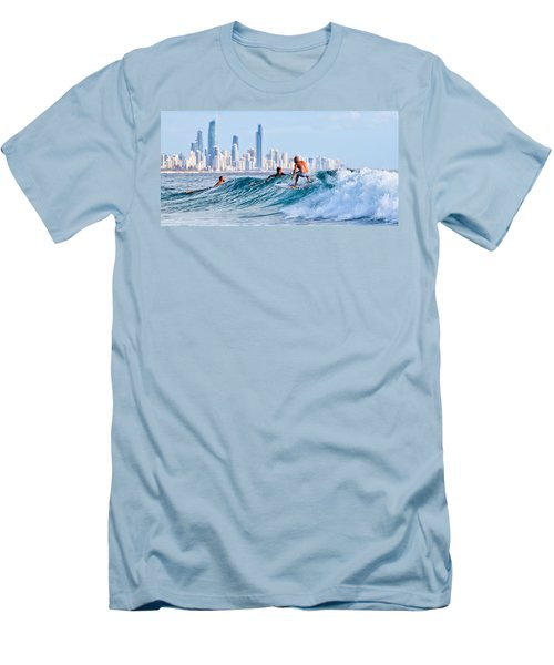 Surfing Burleigh Men's T-Shirt (Athletic Fit)