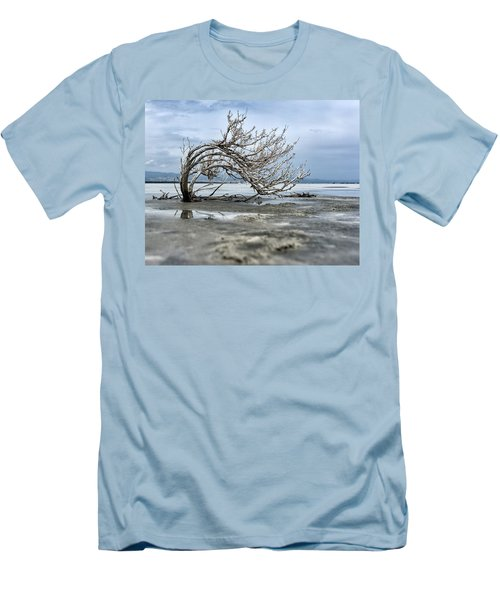 A Smal Giant Bush Men's T-Shirt (Slim Fit) by Mike Santis