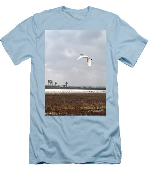 Men's T-Shirt (Slim Fit) featuring the photograph Take Off by Erika Weber
