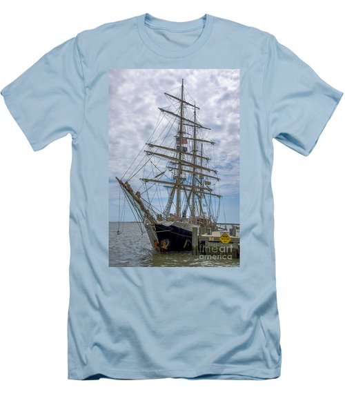 Tall Ship Gunilla Vertical Men's T-Shirt (Slim Fit) by Dale Powell