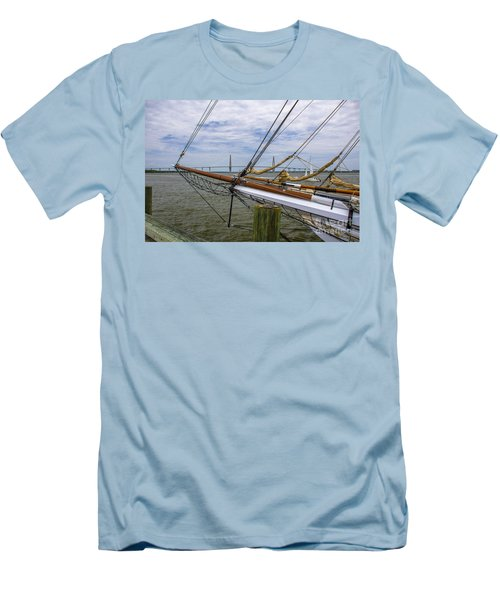 Men's T-Shirt (Slim Fit) featuring the photograph Tall Ships In Charleston by Dale Powell