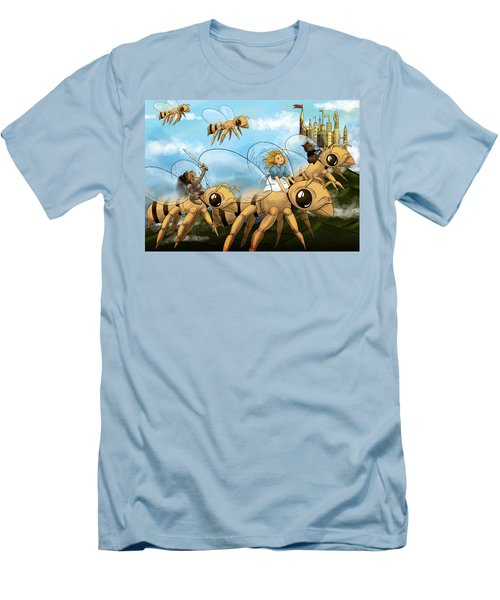 Men's T-Shirt (Slim Fit) featuring the painting Tammy In Polynesia by Reynold Jay