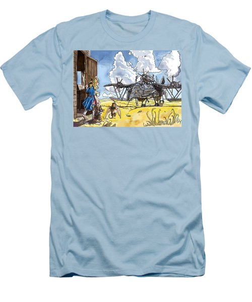 Men's T-Shirt (Slim Fit) featuring the painting Tammy Sees A Thingamajig by Reynold Jay