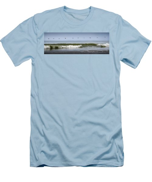 Men's T-Shirt (Athletic Fit) featuring the photograph Ten Pelicans by Steven Sparks
