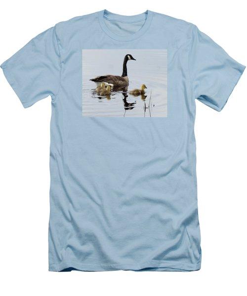 Men's T-Shirt (Slim Fit) featuring the digital art Tender Care by I'ina Van Lawick