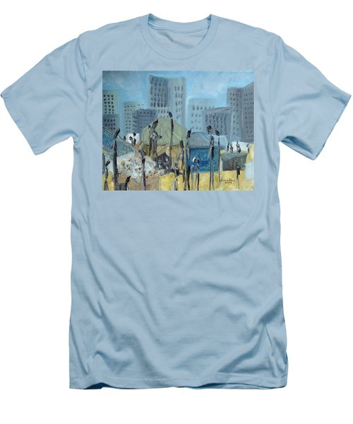 Tent City Homeless Men's T-Shirt (Slim Fit) by Judith Rhue