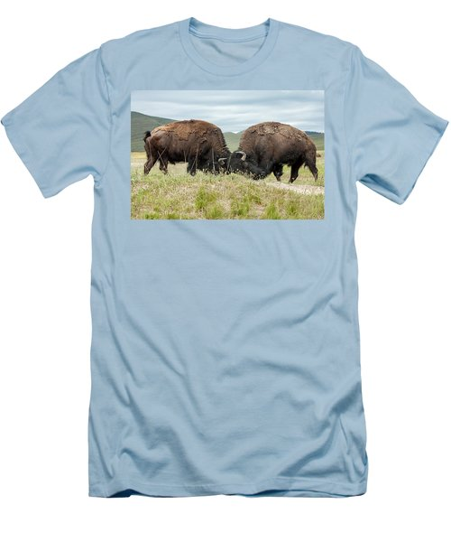 Men's T-Shirt (Slim Fit) featuring the photograph Test Of Strength by Jack Bell