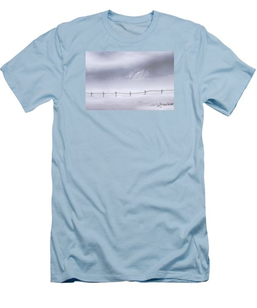 Men's T-Shirt (Slim Fit) featuring the photograph Teton Morning by Priscilla Burgers