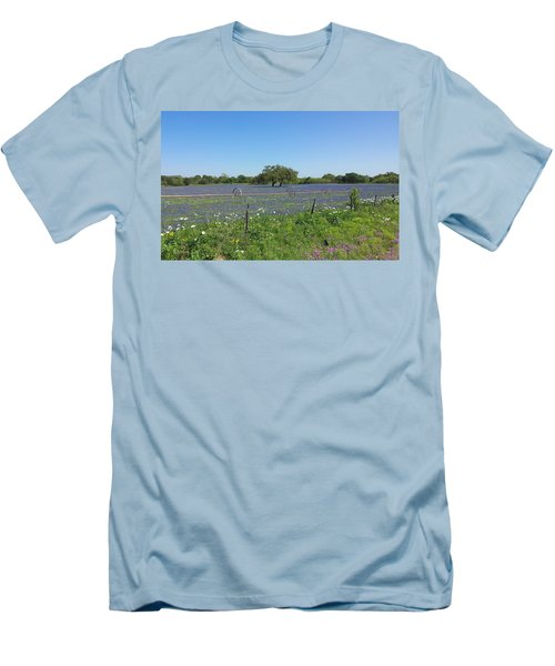 Texas Blue Bonnets Men's T-Shirt (Athletic Fit)