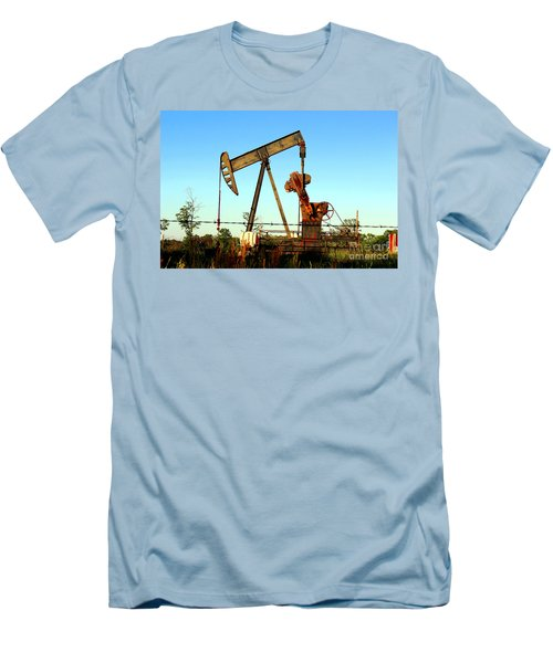 Texas Pumping Unit Men's T-Shirt (Slim Fit) by Kathy  White