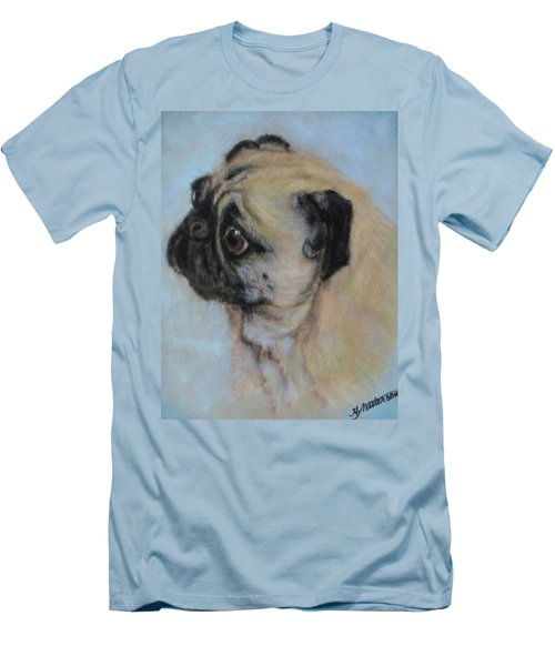 Pug's Worried Look Men's T-Shirt (Athletic Fit)