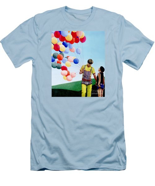 The Balloon Man Men's T-Shirt (Slim Fit) by Michael Swanson