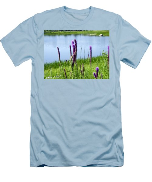 Men's T-Shirt (Slim Fit) featuring the photograph The Beauty Of The Liatris by Verana Stark