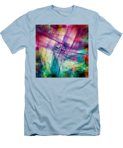 The Building Blocks Men's T-Shirt (Slim Fit) by Angelina Vick