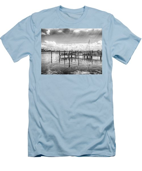 Men's T-Shirt (Slim Fit) featuring the photograph The Dock by Howard Salmon
